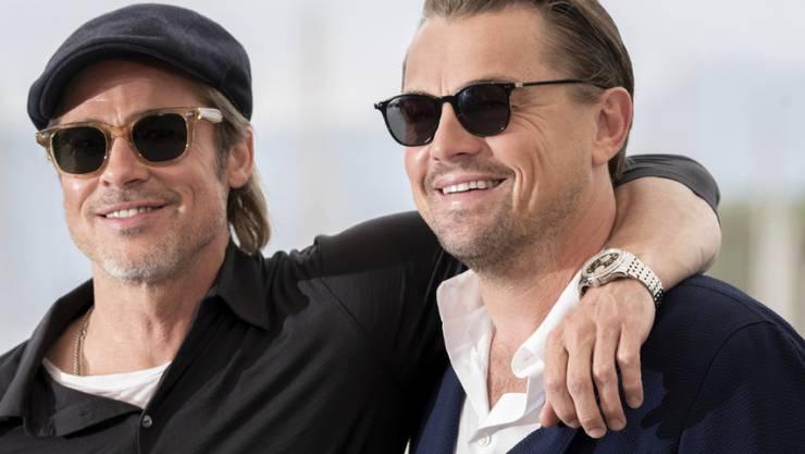 Erfolgreiche Premiere: Die beiden US-Schauspieler Brad Pitt (links) und Leonardo DiCaprio können sich nach ihrem ersten gemeinsamen Auftritt in einem Film weitere Zusammenarbeiten vorstellen.