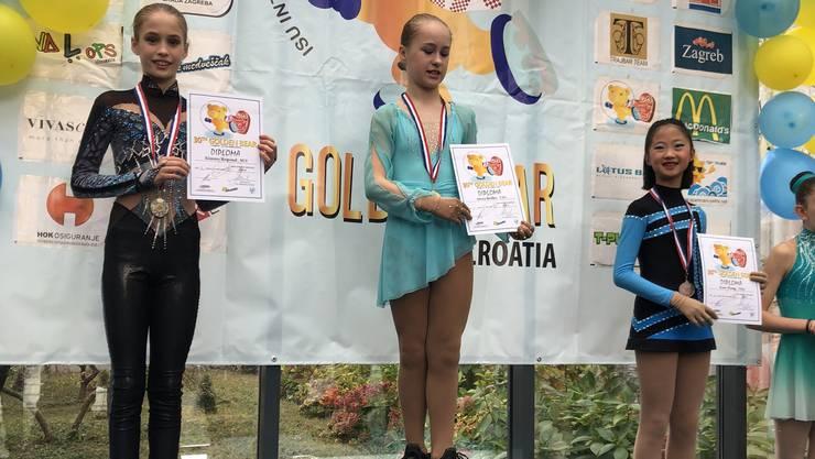 Kimmy Repond schaffte es an ihrem ersten internationalen Wettkampf auf den zweiten Platz.
