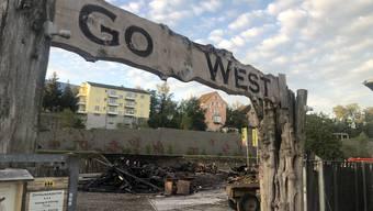 Drohnenaufnahmen Brand Go West in Aarau