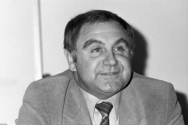 Ein Porträt von Jörg Schneider, aufgenommen im Januar 1991 in Zürich.