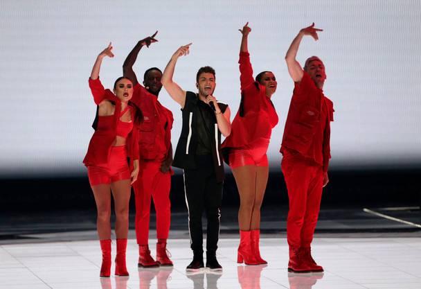 Der Finalauftritt von Luca Hänni.