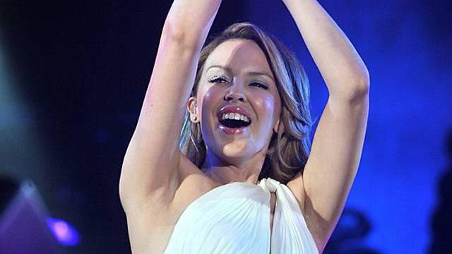 "Kylie Minouge singt ""Super Trouper"" im Londoner Hyde Park"