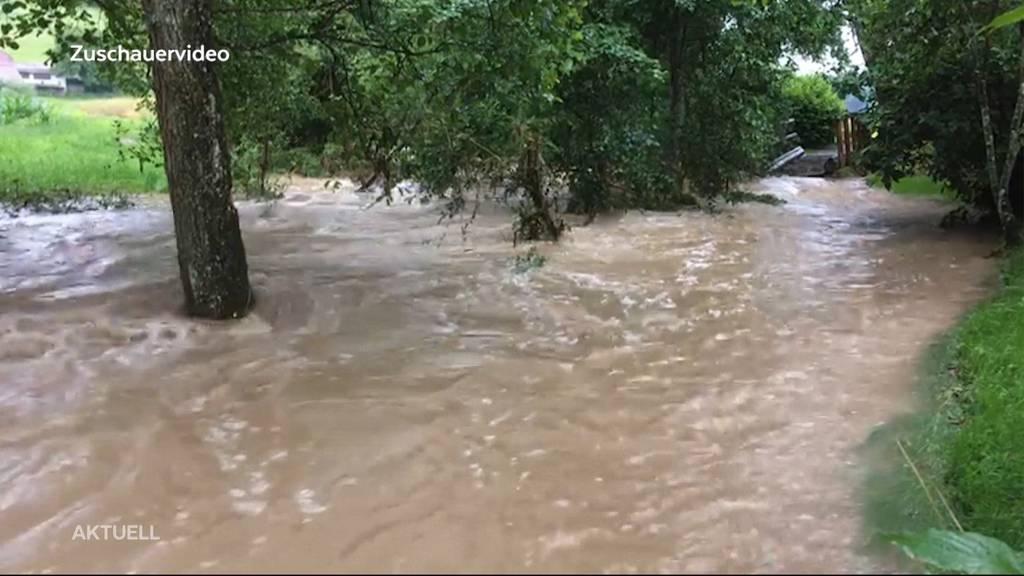 Déjà-vu: In Vordemwald standen schon wieder Keller unter Wasser