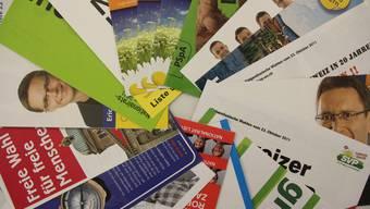 Diese 18 Prospekte sind im Wahlcouvert von 2011 des Kantons enthalten