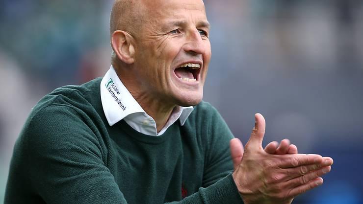 St. Gallens Trainer Peter Zeidler könnte mit zwei Siegen vielleicht den 3. Platz erkämpfen. Aber der erste Gegner heisst YB.