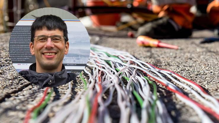 Olten jetzt!-Politiker Tobias Oetiker macht sich für ein leistungsfähiges Netz stark.