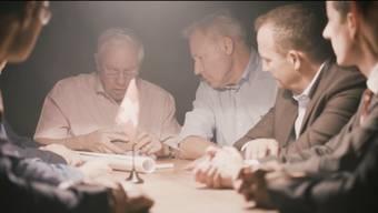 Szene aus dem Trailer zum SVP-Spielfilm «Wahlkampf».