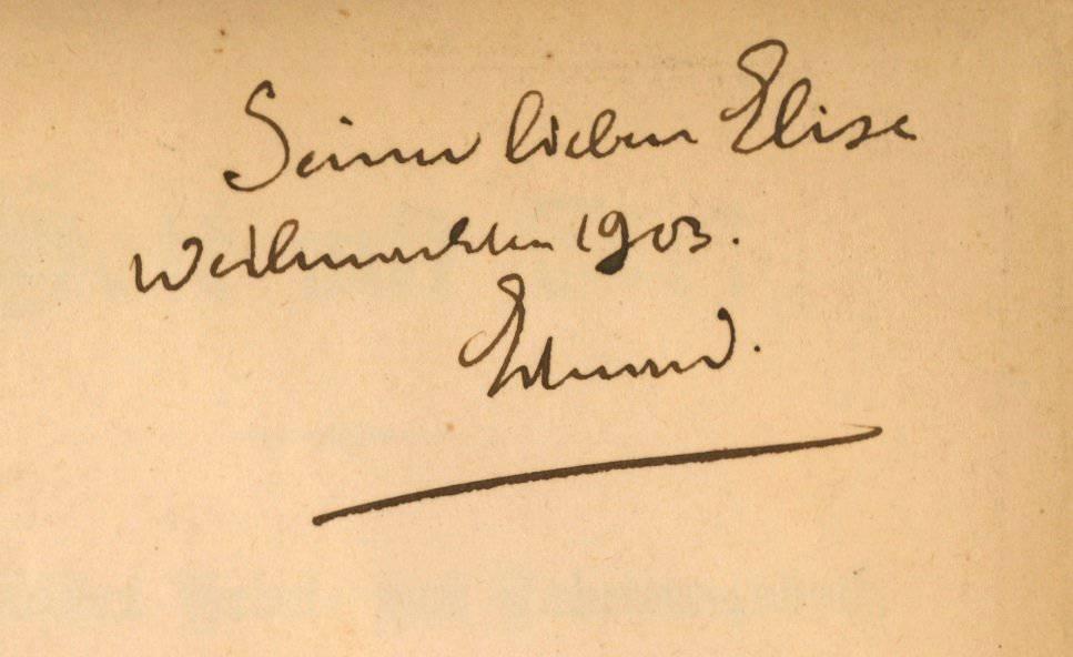 Buchwidmung im Jahr 1903. (Bild: Staatsarchiv St.Gallen)