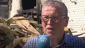 """Am Montagnachmittag brannte das Aarauer Restaurant """"Go West"""" komplett nieder. Am Dienstag sprach der Pächter Beat Thommen über die Zerstörung seines Western-Lokals."""