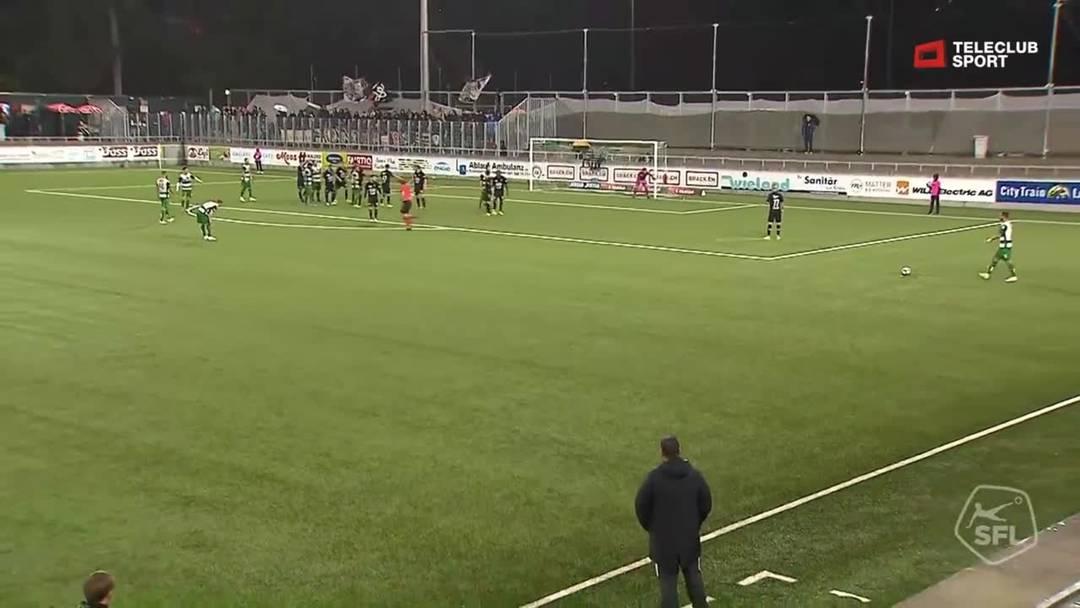 Challenge League 2019/20, 10. Runde: SC Kriens - FC Aarau, 45.+2