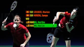 Das Badminton Swiss Open gibt Schweizer Athleten, hier Marion Gruber (links) und Sanya Herzig (rechts), immer wieder die Chance, sich mit der Weltspitze zu messen.