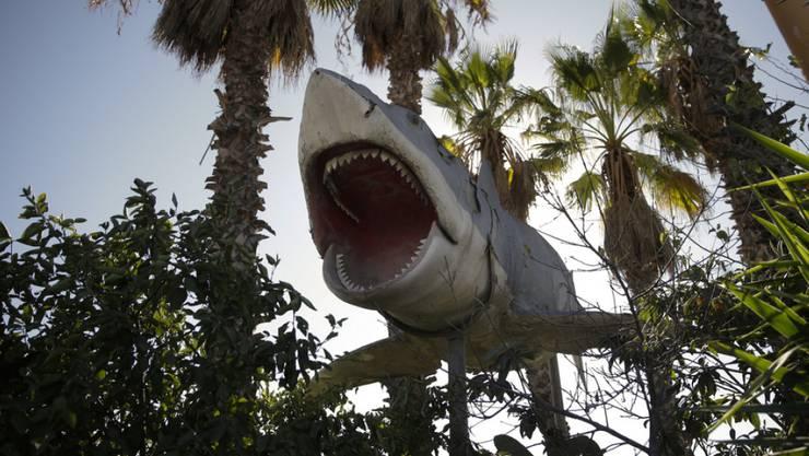 """Weil sein Zuhause, der Schrottplatz Aadlen Brothers Auto Wrecking, geschlossen wurde, gelangte diese """"Jaws""""-Attrappe jetzt in den Besitz der Oscar-Academy (Archiv)."""