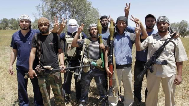 Libysche Rebellen im Westen von Mistrata