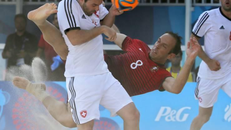 Der Schweizer Kaspar Jaeggy im Gruppenspiel gegen Portugal