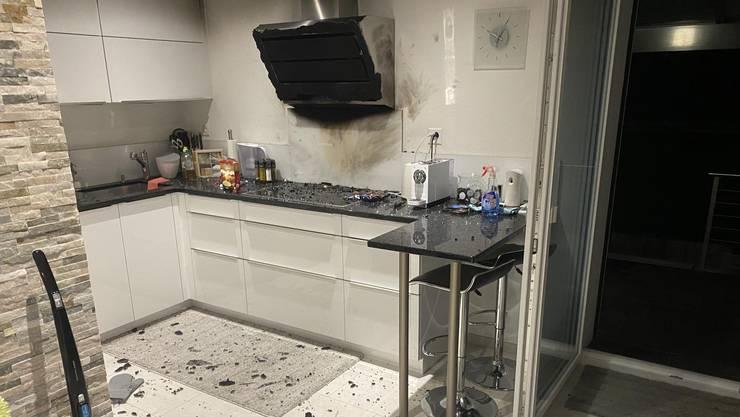 Bei dem Küchenbrand wurde niemand verletzt.