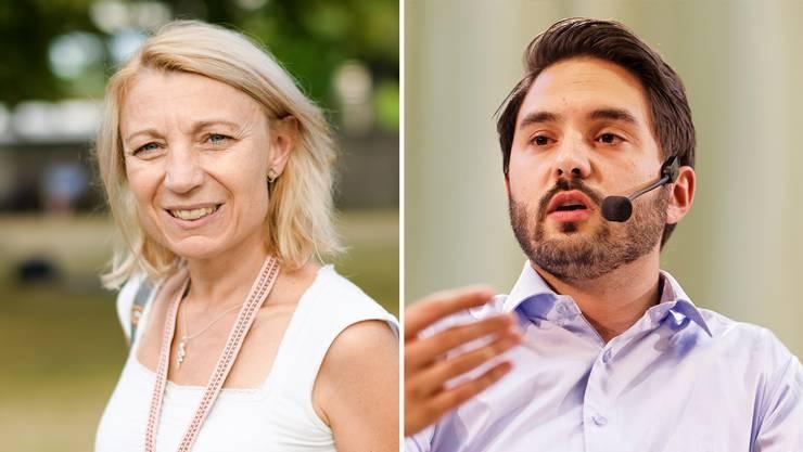 Yvonne Feri oder Cédric Wermuth: Die SP-Delegierten entscheiden am Mittwochabend, wen sie lieber im Ständerat sähen beziehungsweise wem sie den Sprung in den Ständerat eher zutrauen.
