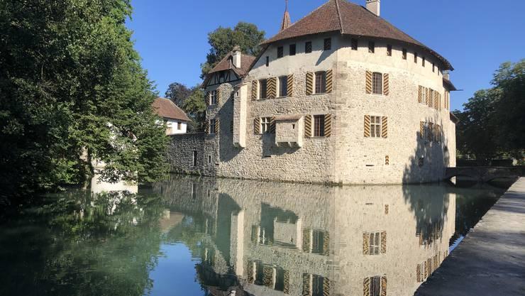 Spiegelbild vom Schloss Hallwil