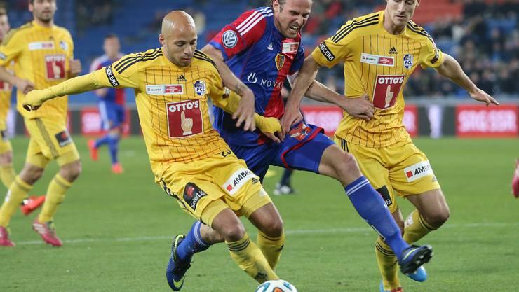 Wahrscheinlich hat sich Streller die Verletzung im Cup-Spiel gegen Luzern zugezogen.