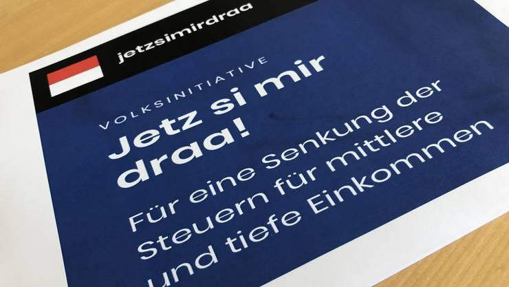 Die Volksinitiative «Jetz si mir draa!» setzt sich für eine Senkung der Steuern für mittlere und tiefe Einkommen ein.