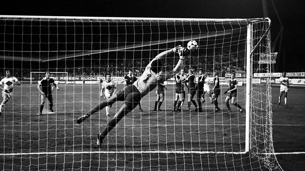 Jure Jerkovic war bekannt für seine raffiniert getretenen Freistösse. Ein solcher Ball  führte hier zu einem Tor im damaligen Meistercup-Heimspiel gegen Dynamo Berlin