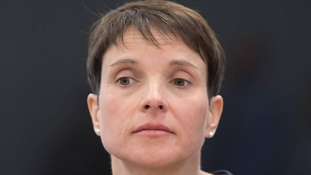 Ex-AfD-Chefin Petry berichtet von Treffen mit reichem Spender