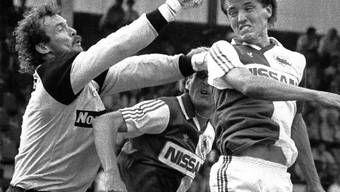 15 Jahre voller Einsatz für die Hoppers: Mats Gren (rechts) in einem Meisterschaftsspiel gegen Sions Goalie Pierre-Marie Pittier