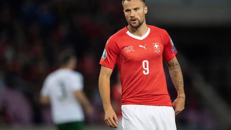 Haris Seferovic verletzte sich beim Aufwärmen an der Wade und konnte gegen Georgien nicht spielen. Sein kurzfristiger Ersatz war Ruben Vargas.