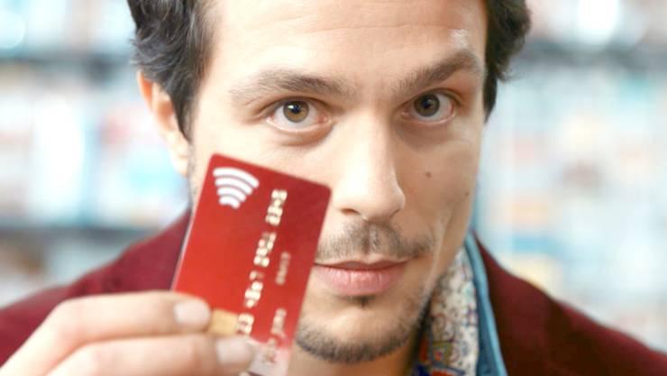 Weist Ihre Kreditkarte dieses Funksymbol auf, so können sie damit ab dem 7. Februar im Joggeli einfach und schnell bezahlen. (Archiv).