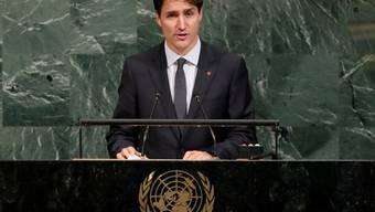 Kanadas Premierminister Justin Trudeau bei der UNO-Generaldebatte am Donnerstag in New York.