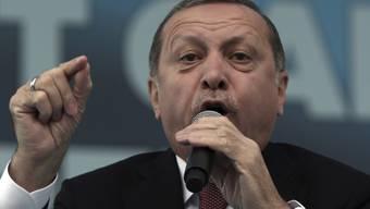 Der türkische Staatschef sorgt mit seiner Äusserung für Irritation. (Archiv)