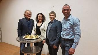 v.l. Marc Dincer, David Jäggi, Sandra Meichtry und Martin Otti. Es fehlt: Daniel Bumann.