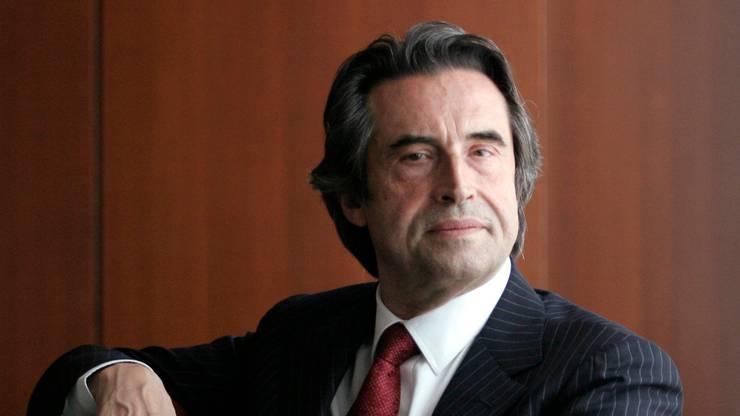 Riccardo Muti Dirigent am italienischen Ravenna Festival.