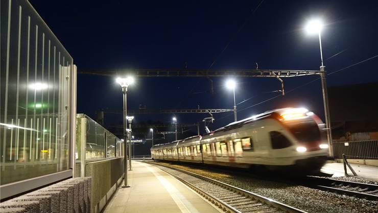 Schön hell hier: Aber wenn keine Züge mehr fahren, wird die Beleuchtung, anders als jetzt in der Projektphase, abgeschaltet.