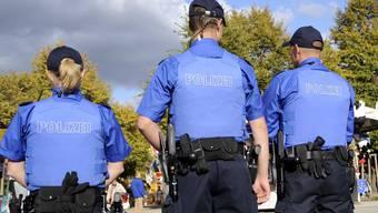 Basler Polizisten im Einsatz.