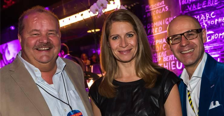 Der Luzerner Nationalrat Felix Müri mit Baloise-Session-CEO Beatrice Stirnimann und Baloise-Session-Präsident Matthias Müller (von links).