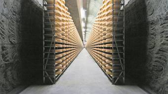 Auch die Exporte von Gruyère steigen an – vornehmlich in die USA. Im Bild; der Kaltbach-Reifekeller von Emmi in Mauensee.