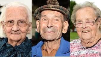 Diese Senioren sind über 100 Jahre alt