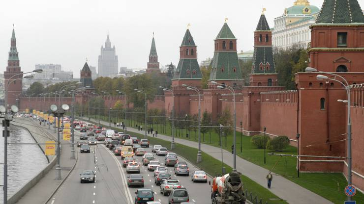 Die Mauern und Türme des Kremls in Moskau. (Symbolbild)
