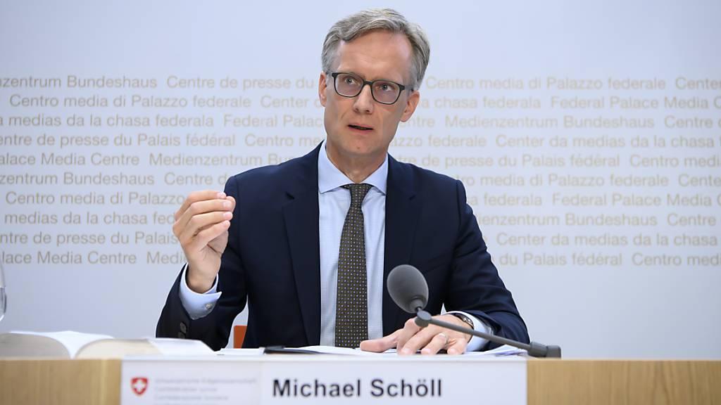 Michael Schöll, bisheriger Vizedirektor im Bundesamt für Justiz (BJ), löst per Anfang September Amtsdirektor Martin Dumermuth ab, der in Pension geht. (Archivbild)