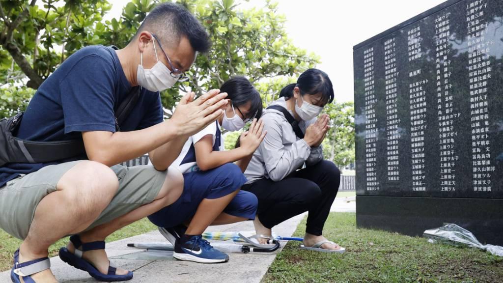 Japan gedenkt Ende der Schlacht um Okinawa im Zweiten Weltkrieg