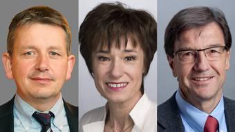 Uneins: Raymond Clottu Nationalrat (NE), Ruth Humbel CVP-Nationalrätin (AG) und Bruno Pezzatti, FDP-Nationalrat (ZG).