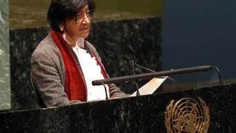 Menschenrechtskommissarin Navi Pillay übt vor der UNO-Generalversammlung harsche Kritik an der Syrien-Politik des Sicherheitsrates