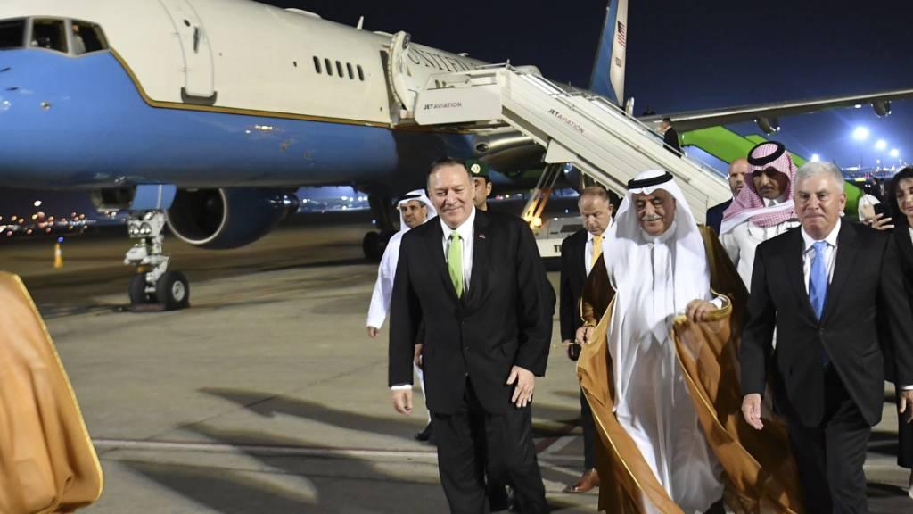 US-Aussenminister Pompeo ist am Mittwoch in Dschidda angekommen. Dort wollte er mit Kronprinz Mohammed bin Salman zusammenkommen.