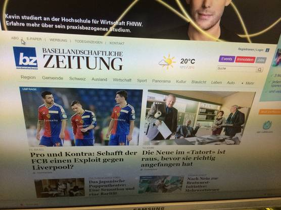 Die basellandschaftlichezeitung.ch ist analog zur bzbasel neu und klarer strukturiert.
