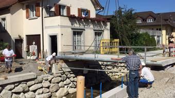 Brücken- Rückverschiebung am Wüeribach