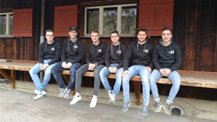 Jeremy Heutschi, Simon Gisler, David Spiegel, Joel Burgermeister, Janick Burgermeister, Mario Ackermann (v. l.).