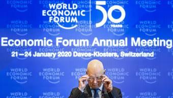 WEF-Gründer Klaus Schwab, freut sich auf den Besuch der Klima-Aktivistin Greta Thunberg.