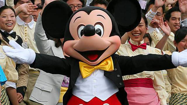 Mickey Mouse im Disneyland (Archiv)