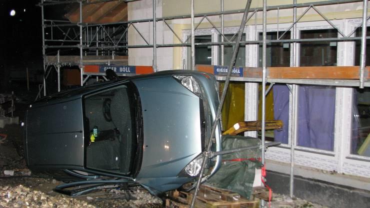 Der Unfall des alkoholisierten Lernfahrers ging glimpflich aus.