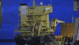 """Sprengstoff und Raketen an Bord: Der Frachter """"Thor Liberty"""" (Archiv)"""